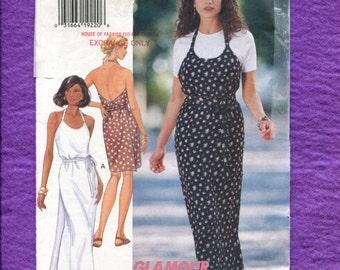 Butterick 3428 Halter Wrap Sun Dress Size 6  8  10 UNCUT