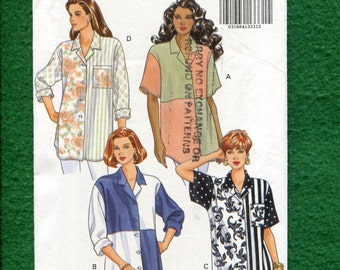 Butterick 6171 Big Shirt is Back & Perfect for Color Blocking  Sizes 14.16.18 UNCUT