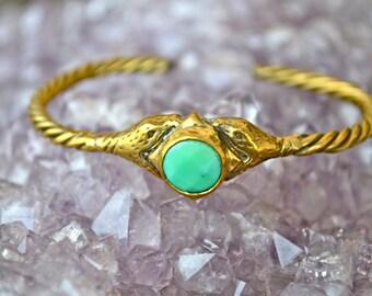 Cosmic Mingle Opal Cuff|Heart Majestic|Opal Cuff|Snake Cuff|Snake Jewelry|Cosmic Jewelry|Opal jewelry|Snake Bangle|Emerald Jewelry
