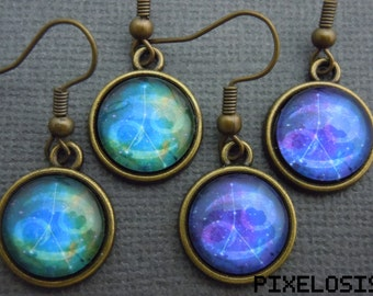 Cancer Zodiac Earrings, Cancer Constellation Earrings, Zodiac Symbol, Astrology Jewelry, June July Birthday Gift, Star Sign, Zodiac Jewelry