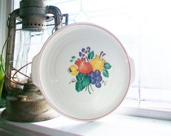 Art Deco Tab Handle Serving Plate Platter Knowles Utility Ware Valencia Fruit Vintage 1960s