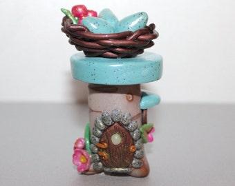 Delightful Bird's Nest Fairy House