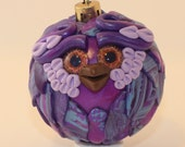Splendid - Polymer Clay Owl Ornament