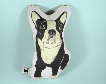 Boston terrier dog stuffed animal - boston terrier shaped pillow - small boston terrier toy - boston terrier plushie - cute boston terrier