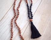 Black Mala Beads, Lava Stone Mala, Black Necklace, Mala Beads, Mala Beads 108, Rudraksha Mala, Rudraksha Necklace, Gemstone Mala, Lava Mala