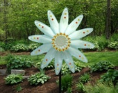 Repurposed Garden art, Garden Sculpture, Repurposed Décor and Glass Yard Art sun catcher