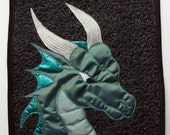 Dragon Quilted Wall Hanging / Mini Art Quilt