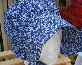 Bonnet Bandanna Blue One Size