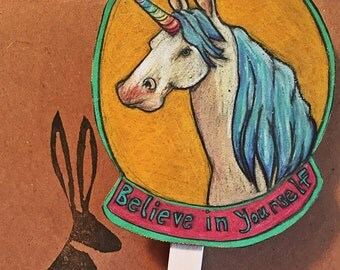 Hand Drawn Unicorn Clip Magnet