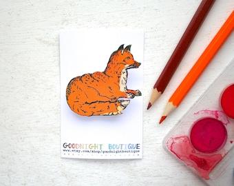 Fox Brooch Cute Brooch Fox Pin