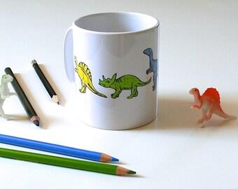 Dinosaur Mug Jurassic Mug Geeky Mug Cute Mug