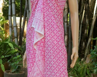 Pink Sarong, Swimsuit cover up, Beach Sarong, Pareo