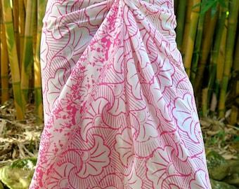 Pink Sarong, Pareo, Wrap, Cover up E