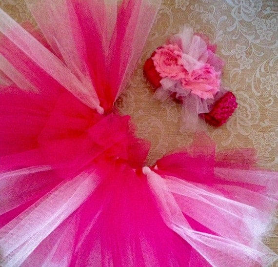Baby Girl Girly Girl Tutu, and Headband Set Sizes Preemie Newborn to 12 months You Pick Color