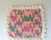 Handmade Country Washcloth, Hand Crocheted Dish Cloth