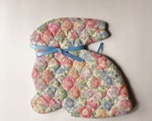 Handmade Rabbit Oven Mit, Quilted Bunny Hot Pad