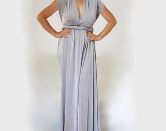 Maxi Convertible Dress Made to Measure / XXL XXXL Infinity Multiway Dress Plus Size Bridesmaid Wrap Dress Convertible Maxi