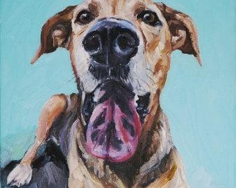 CUSTOM Pet Portrait Oil Painting 12x12 Pet Memorial Birthday Gift