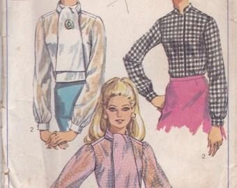 60s High Neck Blouse Pattern Simplicity 8124 Size 14 Uncut