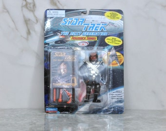 Vintage Star Trek The Next Generation Action Figure Playmates Lieutenant Worf #6950 6985 1994 - Vulcan - United Federation Of Planets