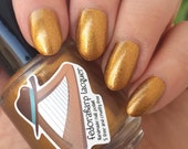 Peggy (mini size & full size)- Gold bronze shimmer metallic indie polish by Fedoraharp Lacquer