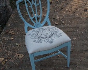 Blue Federal Style Chair