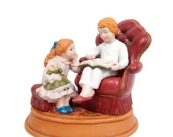 Vintage Christmas Memories Series Porcelain Figurine Avon 1983 Third Edition Night Before Xmas