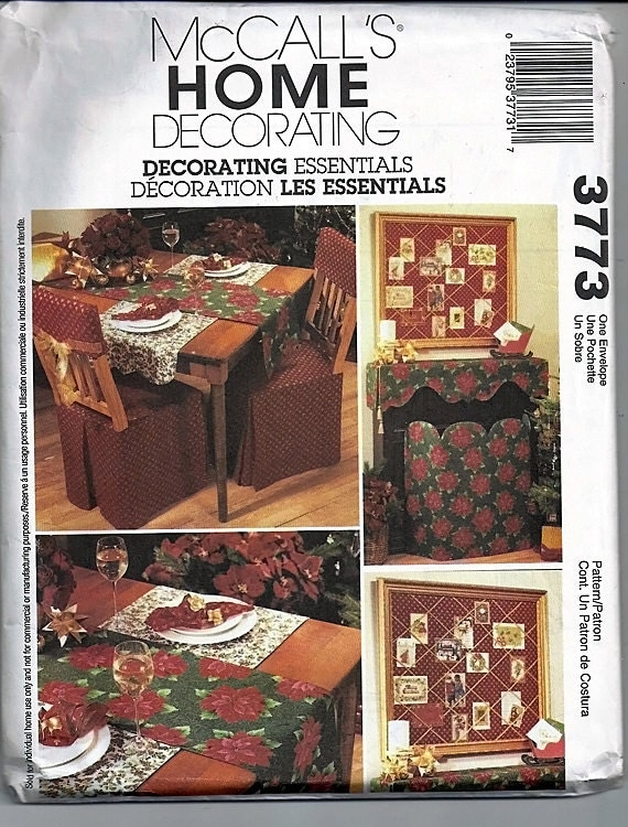 Decorating Essentials Original Mccall S Home Decorating Uncut Sewing Pattern 3773 From Grammysyarngarden On Etsy Studio