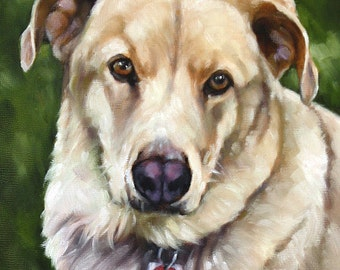 Custom Pet Portrait, Pet Portrait, Oil Painting, Portrait Painting of Dog, 11x14