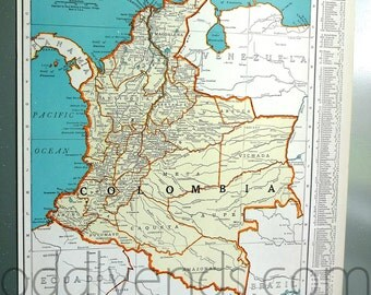 1939 Colombia Atlas Map