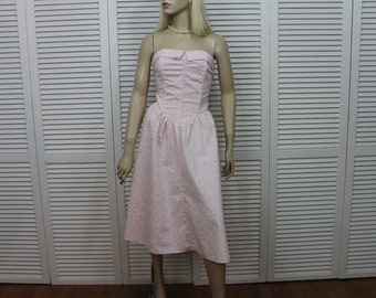 Vintage Strapless Dress Pink by Nicki's Girl