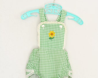 Vintage Romper Baby Sunsuit 1940s 1950s Easter Outfit