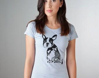 Boston Shirt, Boston Terrier Shirt, Boston Terrier Clothing, Organic T-shirt for Women