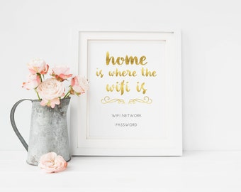 Printable Wifi Password Guest Room Home Decor