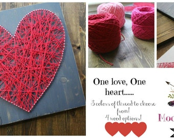 Heart String Art! You pick the finish and color!