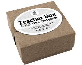 Teacher Box Pre - 2nd Grade, Teacher Appreciation Gift, Teacher Time Fillers, New Teacher Gift, Preschool Teacher Gift, End of Year Gift
