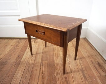 Vintage Lane Acclaim Commode or End Table / Mid Century Side Table