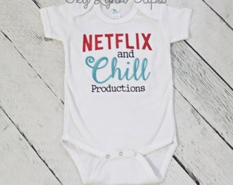Netflix & Chill Productions Embroidered Shirt or Bodysuit Toddler, Baby Girl Sizes