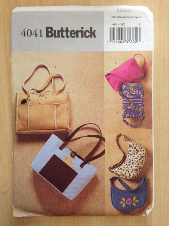 Butterick 4041 Sewing Pattern UNCUT Misses Handbags