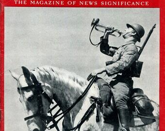Newsweek July 31 1939 Poland Military World War Two History Birthday Birth Date Gift Vintage Magazine Cavalry Horse Rider