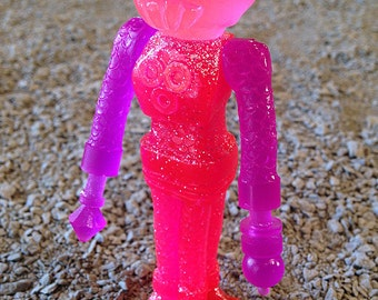 SEA-BORG MUTATION  Wave 2 Plastic Resin Figure - pink glitter crab