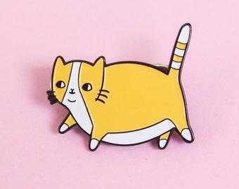 Fatty Catty Soft Enamel Pin