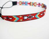 Red Aztec Headband