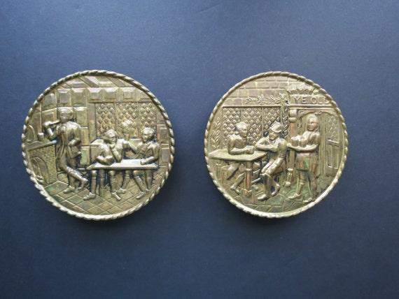 Decorative Wall Pockets Metal : Items similar to vintage decorative wall pockets