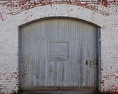 Gray Warehouse Door Old Building Photo Macon Georgia Photo Downtown Brick Wall and Door Original Print Home Office Decor 5x7 8x10 11x14
