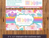 DIGITAL - LuLaRoe Business Cards - Single OR Double Sided - for LuLaRoe consultants - Fonts and Colors LuLaRoe approved -Item LuLaBC007a