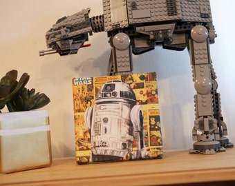 Mini Canvas of R2D2 from Star Wars