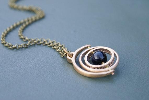 Gyroscope 3.0 - blue goldstone