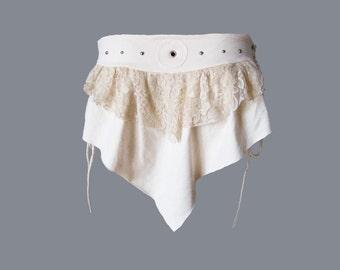 GAZANIA BELT [ burning man clothing . festival clothing . skirt belt . bustle skirt . bustle skirt belt . lace skirt . festival skirt ]