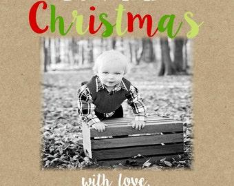 Christmas  photo Cards-confetti dots